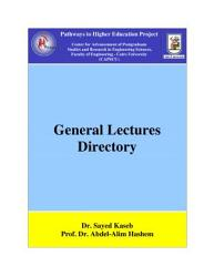 General Lectures Directory Book PDF