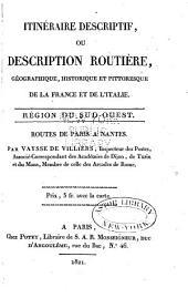 Description routière et géographique de l'empire Français divisé en quatre régions: Volume11