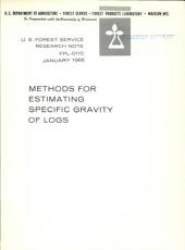 Methods for estimating specific gravity of logs