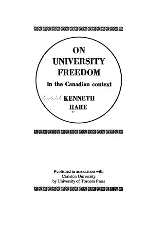 On University Freedom in the Canadian Context