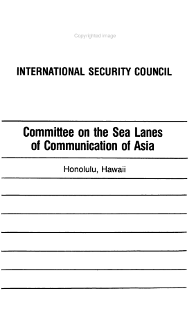 Committee on the Sea Lanes of Communication of Asia PDF