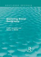 Exploring Social Geography  Routledge Revivals  PDF