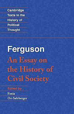 Ferguson  An Essay on the History of Civil Society PDF