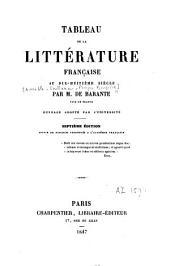 Tableau de la littérature franc̜aise au dix-huitième siècle