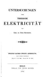 Untersuchungen über thierische elektricität: bd., 1. abth