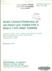 Wake characteristics of an eight-leg tower for a MOD-O type wind turbine