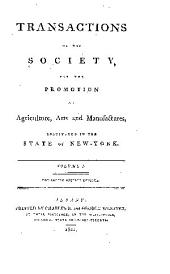 Transactions of the Society for the Promotion of Useful Arts, in the State of New York