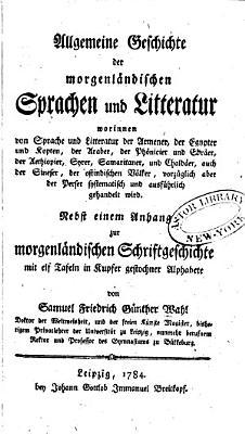 Allgemeine geschichte der morgenl  ndischen sprachen und litteratur     PDF