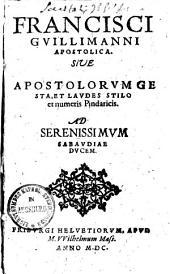 Apostolica, sive Apostolorum gesta et laudes stilo et numeris Pindaricis..
