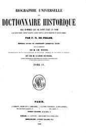 Biographie universelle, ou, dictionnaire historique des hommes qui se sont fait un nom par leur génie, leurs talents, leurs vertus, leurs erreurs ou leurs crimes: Volume4
