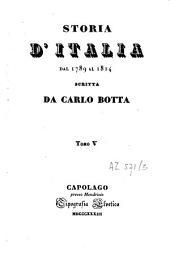 Storia d'Italia dal 1789 al 1814: Volume 5