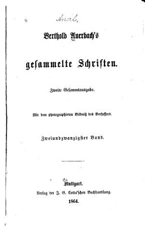 Berthold Auerbach s gesammelte Schriften  Edelweiss PDF