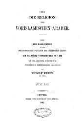 Ueber die Religion der vorislamischen Araber