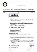 OSSREA Bulletin PDF