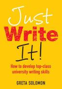 EBOOK: Just Write It!