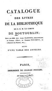 Catalogue des livres de la bibliothèque de S.E.M. le comte de Boutourlin