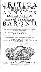 Critica historico-chronologica in universos Annales ecclesiasticos Cardin. Baronii: Volume 2
