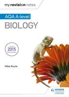 My Revision Notes  AQA A Level Biology PDF