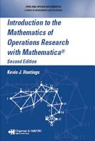Introduction to the Mathematics of Operations Research with Mathematica   PDF