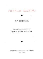 French maxims of letters