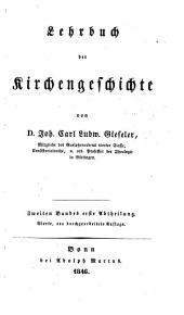 A Compendium of Ecclesiastical History: Volume 2, Part 1