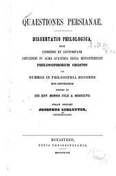 Quaestiones Persianae ...