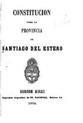 Constitución para la provincia de Santiago del Estero
