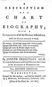 A Description of a Chart of Biography; with a catalogue of all the names inserted in it, and the dates annexed to them ... Second edition