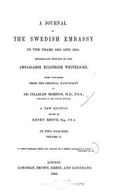 A Journal of the Swedish Embassy in the Years 1653 and 1654: Volume 2