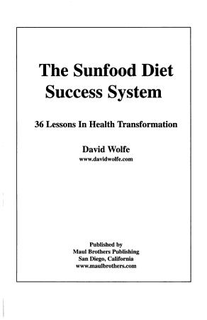 The Sunfood Diet Success System PDF
