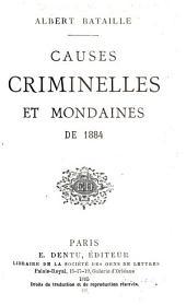 Causes criminelles et mondaines de ...