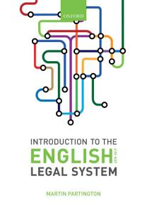 Introduction to the English Legal System 2018 19 Book