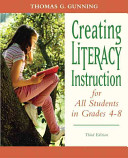 Creating Literacy Instruction for All Students in Grades 4 8
