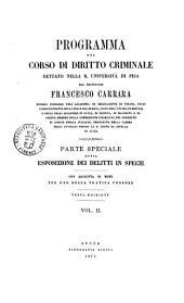 Programma del Corso di Diritto Criminale Dettato Nella R. Universita di Pisa