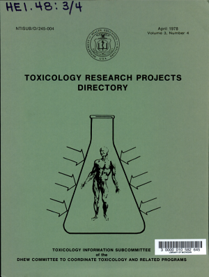 Toxicology Research Projects Directory PDF