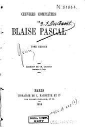 Oeuvres complètes de Blaise Pascal: Volume2