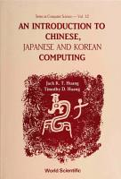 An Introduction to Chinese  Japanese and Korean Computing PDF
