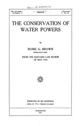 The Conservation of Water-powers