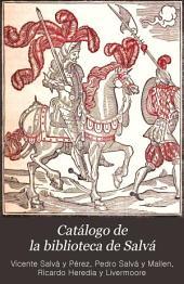 Catálogo de la biblioteca de Salvá: Volumen 2