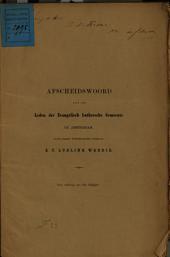Afscheidswoord aan de leden der Evangelisch Luthersche Gemeente te Amsterdam: Volume 1