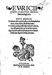 Euricii Cordi Simesusii Medici Botanologicon