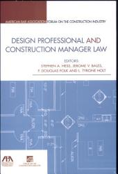 Design Professional And Construction Manager Law Book PDF