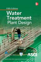 Water Treatment Plant Design 5 E PDF