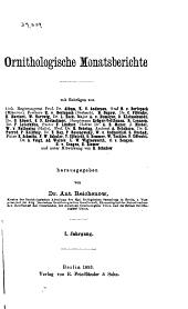 Ornithologische monatsberichte: Band 1