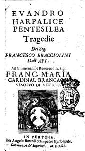 Euandro Harpalice Pentesilea tragedie del sig. Francesco Bracciolini dall'Api. ..