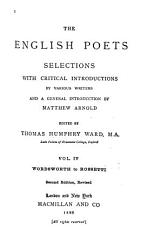 The English Poets  Wordsworth to Rossetti  2d ed   rev PDF