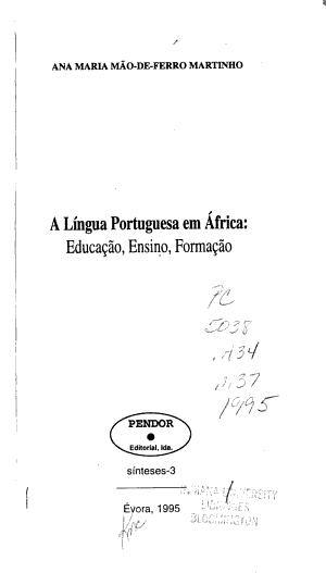 A l  ngua portuguesa em Africa PDF