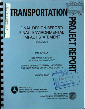 Stewart Airport Access Improvement  Towns of Montgomery  Newburgh and New Windsor  Orange County PDF