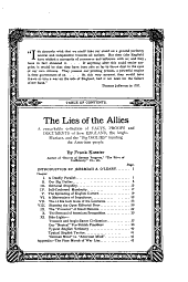 "The Lies of the Allies: A Remarkable Collection of Facts, Proofs and Documents of how England, the Anglo-maniacs, and the ""big Dailies"" Humbug the American People"