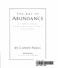 The Art of Abundance PDF